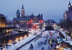 Ottawa's Rideau Canal during Winterlude.