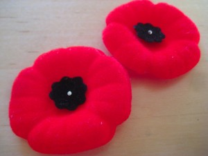 Canadian poppies are worn -and lost - by many