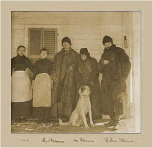 Robert Lewis Stevenson at the Cottage, third from left. (Photo: Robert Lewis Stevenson Cottage and Museum website.)