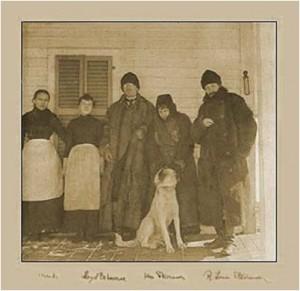 Robert Lewis Stevenson at the Cottage, third from left. (Photo: Robert Lewis Stevenson Cottage and Museum website.)