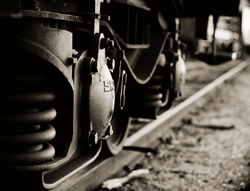 Train: detail from a train car. Photo: Sorensiim, via Creative Commons, some rights reserved.