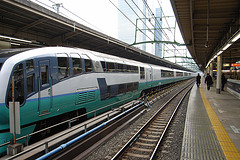 This is the medium size train, providing commuter and regional service. Photo: Koji Haruna, via Creative Commons, some restrictions.