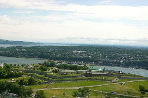 La Citadelle de Quebec, built 1820-1831 to guard against U.S. invaders.