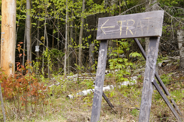 Home made signs can sometimes come into play when giving direction...or perhaps a land owner got sick of directing people to the trail head. Photo: Mark Kurtz
