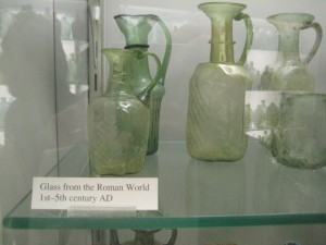 Roman glass ware that's almost 2,00 years old (photo: Lucy Martin)