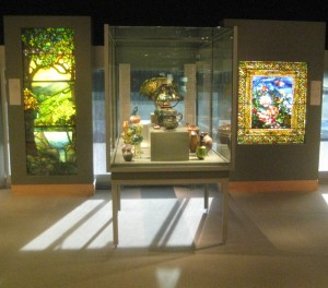 Tiffany stained glass and lamps at the Corning Museum of Glass