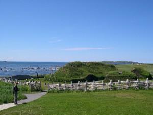 Modern recreation of Viking landing site in Newfoundland. Photo: Wikipedia