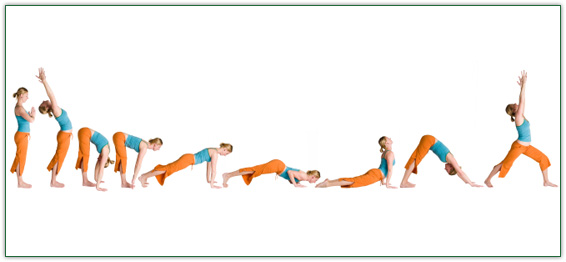 Yoga sequence. Photo: yogalearningcenter.com