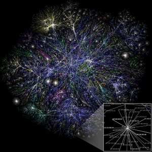 Visualization of the internet. Public domain.
