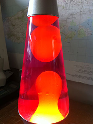The lava lamp awakens.