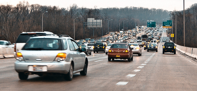 DC beltway at rush hour. Photo: Ehpian.