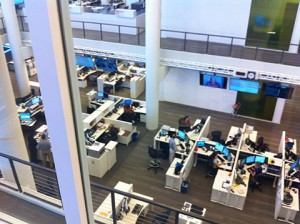 A look into the news operation at NPR. Photo: Ellen Rocco