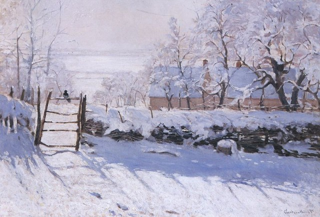 """The Magpie,"" by Claude Monet (1869) Wikipedia image, creative commons"