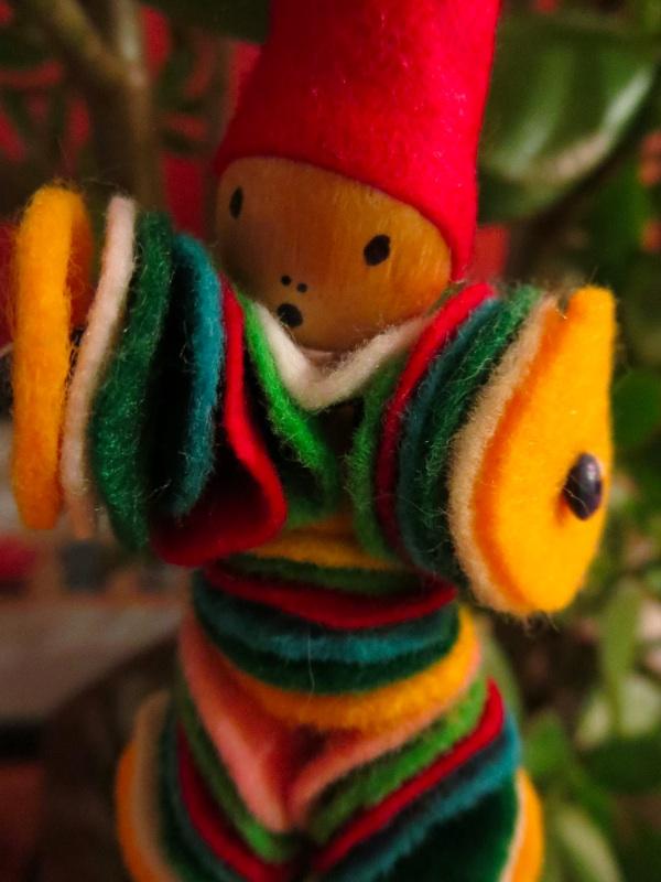 Felt Christmas ornament. Photo: Lucy Martin
