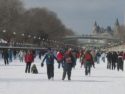 Skating the Rideau Canal in Ottawa is a favorite winter activity for thousands. Photo: Craig Miller