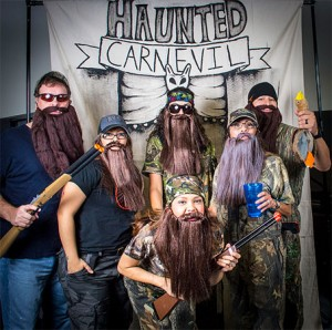 Group in Duck Dynasty costumes, Halloween 2013. Photo: Anthony Acosta, Creative Commons, some rights reserved
