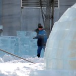 Large igloo under construction for a winter festival in Montreal. Photo: Abdou W., Creative Commons, some rights reserved