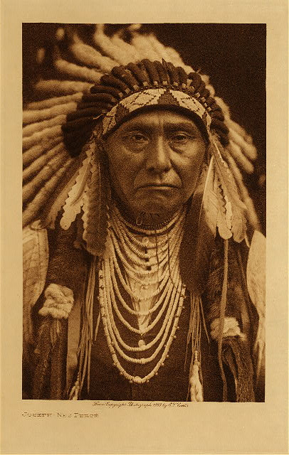 Chief Joseph, Nez Perce. Photo: Curtis, via Northwestern University's Curtis Library.
