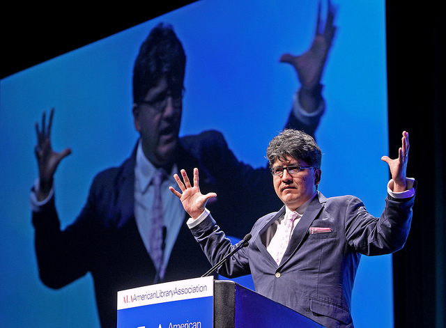 Sherman Alexie, a star presenter at the conference. Photo credit, ALA.