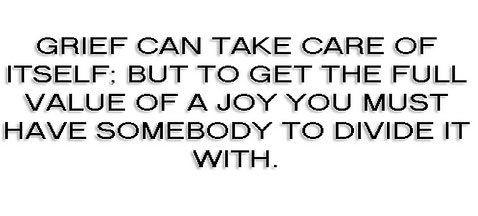 Mark Twain. Isn't sharing joy a demonstration of gratitude?