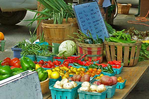 Farmers Market veggies in Glens Falls. Archive Photo of the Day: Mary Abramson, Minerva, NY