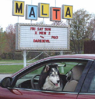 The Malta, NY drive in. Still screening movies after dark. Photo: Malta Drive In
