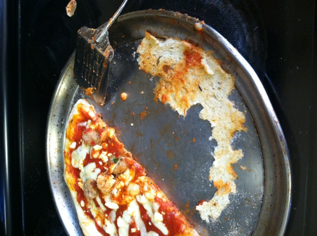 A bit of corn meal in the pan prevents sticking like this. Photo: Nathalie Dignam
