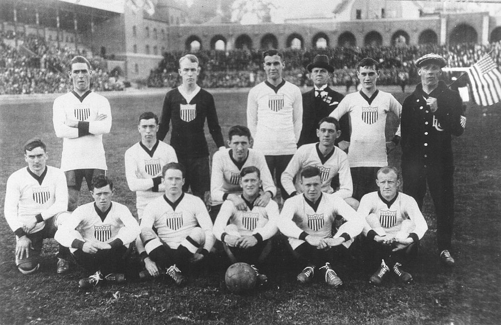 First official US soccer team, 1916. Photo via Wikipedia.