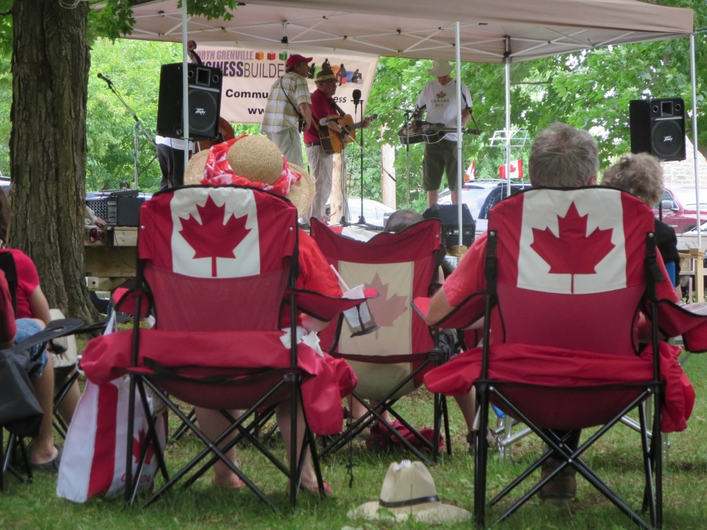 Grenville Grass plays to an appreciative Canada Day crowd. Photo: Lucy Martin