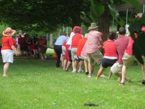Possibly outnumbered, Bishop Mills struggles before going down to defeat. Photo: Lucy Martin