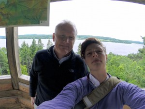 Our first selfie together in Lac-Mégantic, Quebec