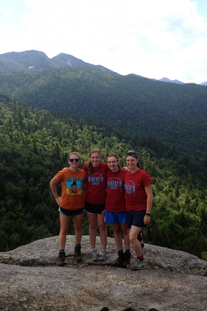 From left: Natalie Dignam, Kelly Bartlett, Claire Woodcock, Natalie Dignam. Photo: A friendly hiker.