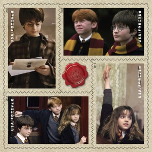 Harry Potter stamps. Image: USPS
