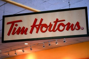 A typical Tim Hortons store sign, known across Canada. Photo: Creative Commons, some rights reserved