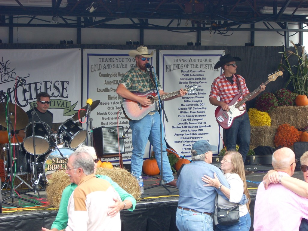 The Nelson Brothers - dairy farming brothers from Rome, NY, really had the street rocking with classic country music.  These guys are rock stars!
