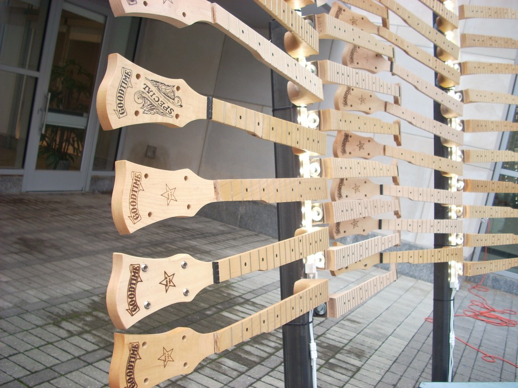 These are banjo necks - all rejects - from the Deering Banjo Company.