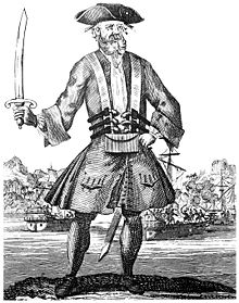 Edward Teach, aka Blackbeard, illustration from