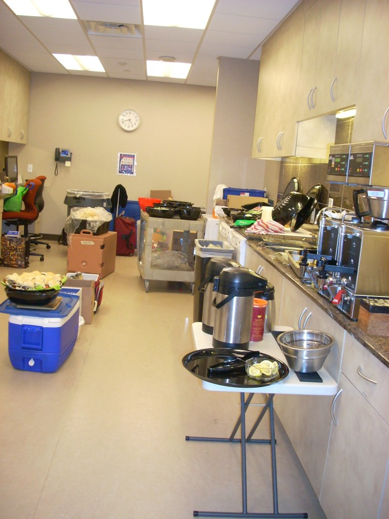This is the catering kitchen - I wish we had one of these at NCPR!!