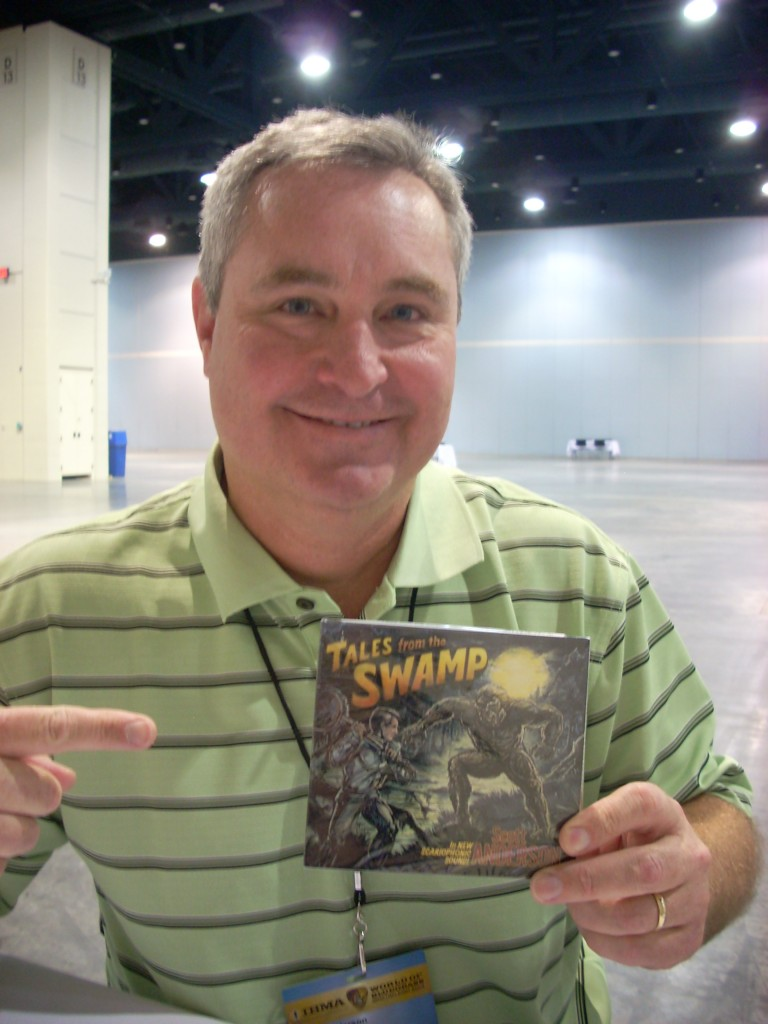 Scott Anderson with his new cd, Tales from The Swamp.