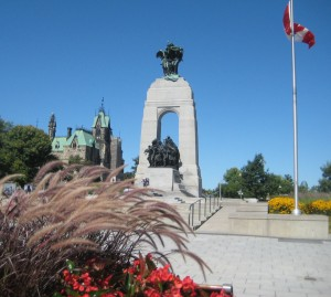 2009 View of the War Memorial with Parliament Hill in the background. Photo: Lucy Martin