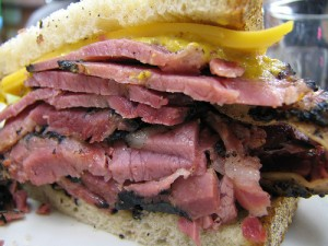 Pastrami on rye a la Katz's Delicatessan.