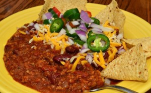 Mmm..chili! (Not from any restaurant in particular...just good winter fare.) Image by jefferyw, Creative Commons.