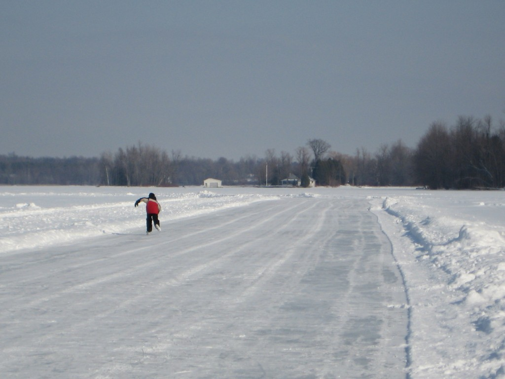 Skate the Lake's excellent 1 kilometer rink in 2008. Photo: Lucy Martin