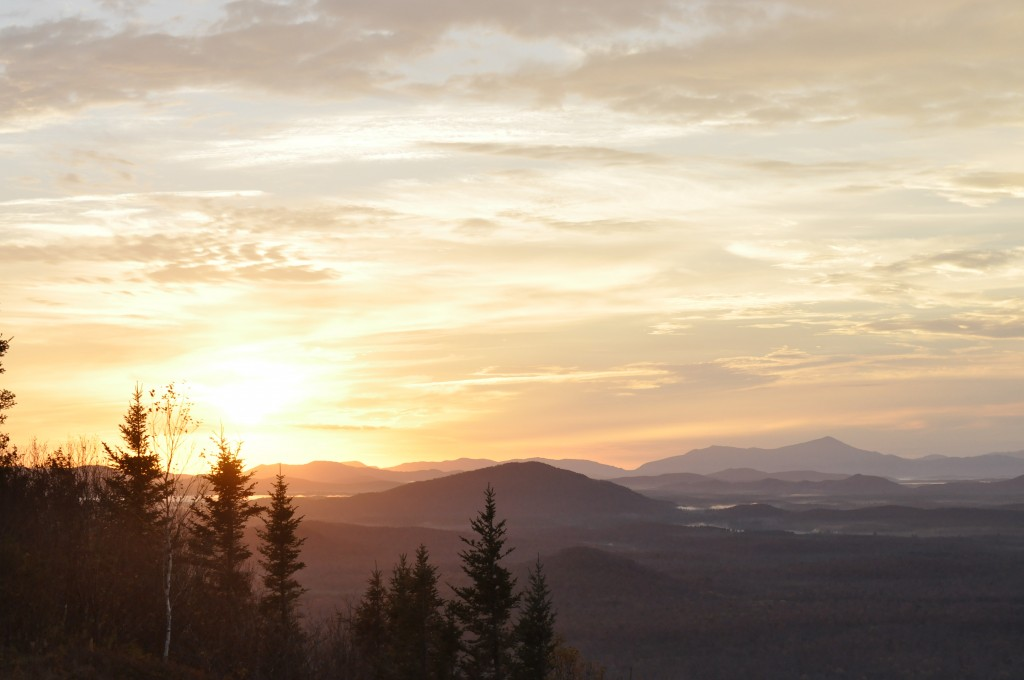 Sunrise from Azure Mountain. Photo: Eric MacIntyre
