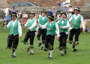 A little Morris dancing near trees is OK, but not too often. Running backhoes under trees? Ungood. Photo: Adrian Pingstone, public domain