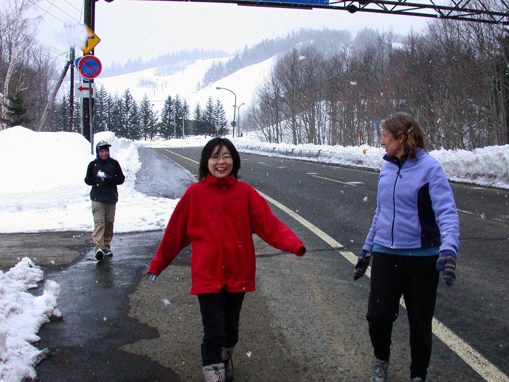 A snowy walk in Hokkaido, March 2006
