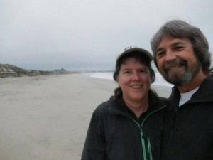 Up next: more Pacific Ocean. Lucy Martin and Craig Miller in California last fall.