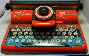 Cub Reporter toy typewriter, 1950s. Photo: Vintage Toy Archive