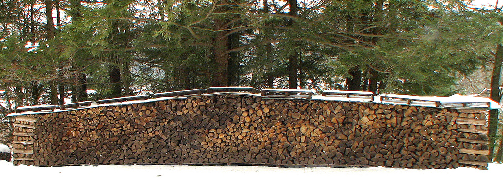 Winter wood supply. Photo: fishhawk, Creative Commons, some rights reserved