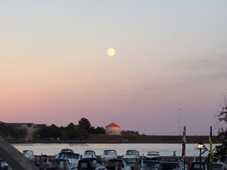 Moon over Kingston.